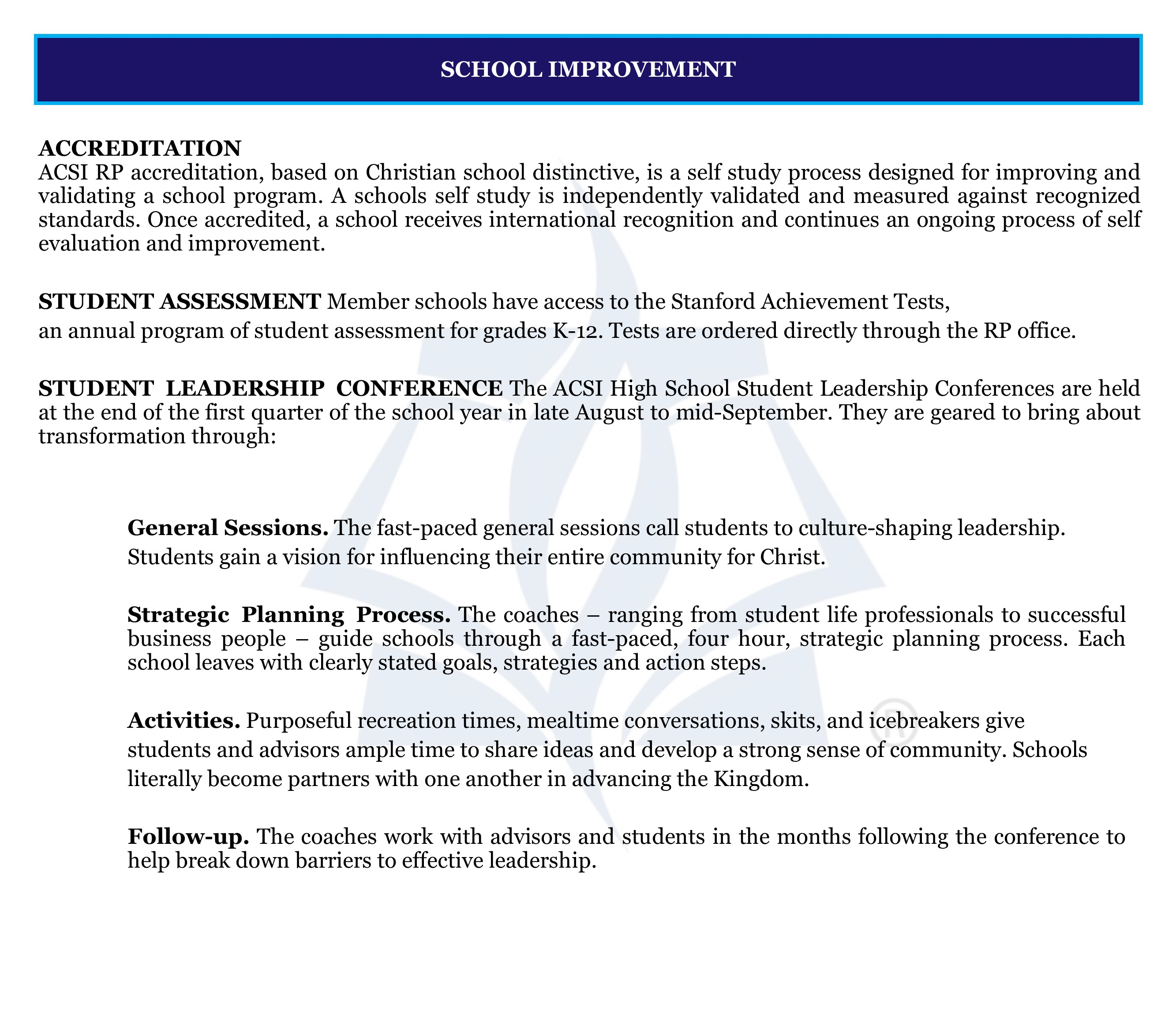 Website page- Services. School Improvement