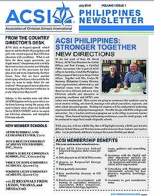 ACSI July 2016 Newsletter Available for Download